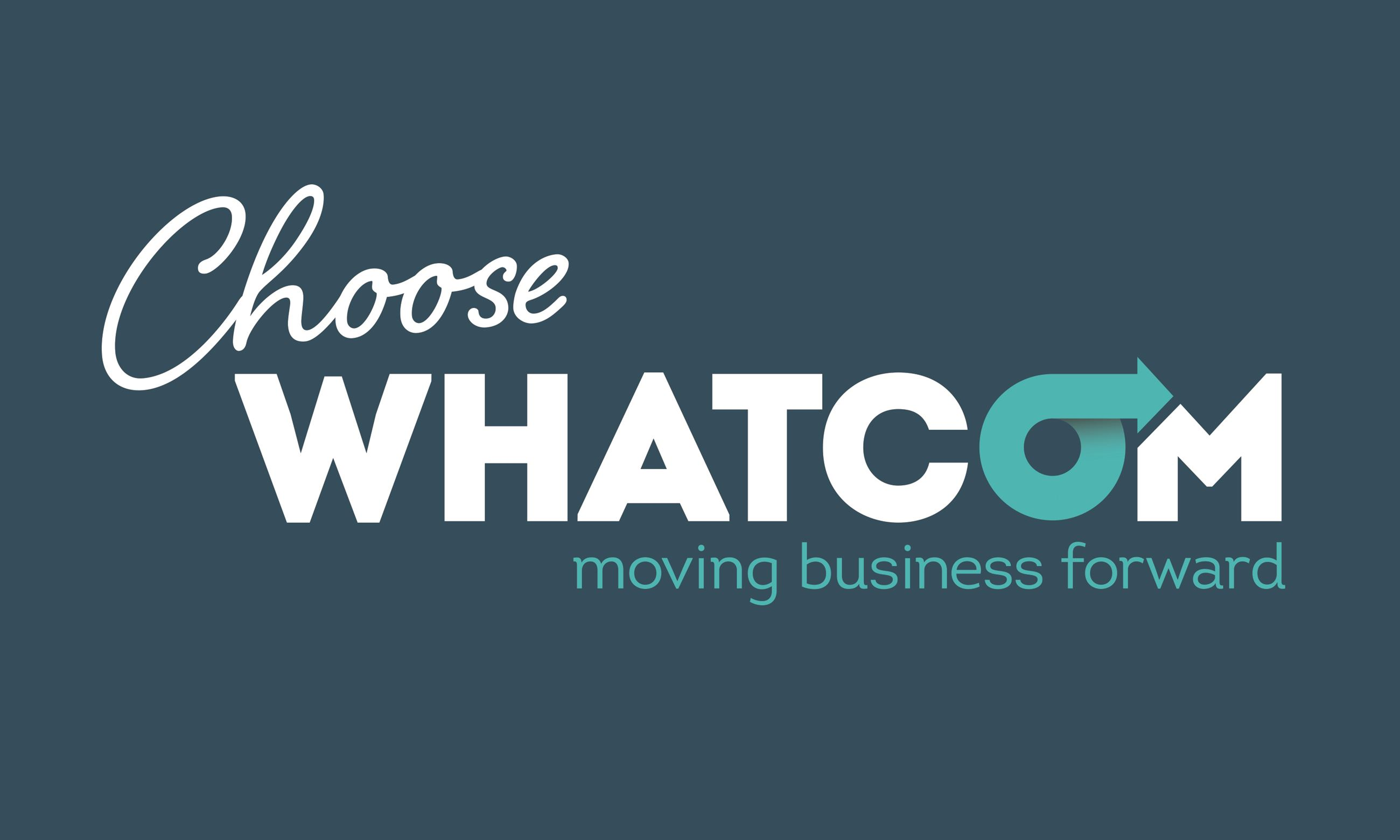 Choose Whatcom on blue