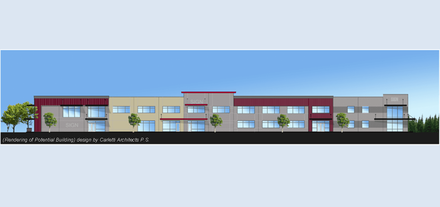 Building Rendering for potential development in Bellingham WA