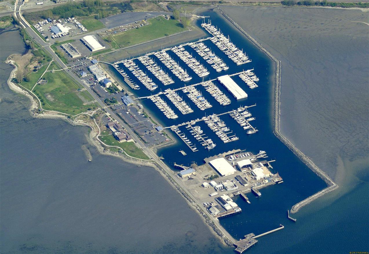 Blaine Harbor Aerial