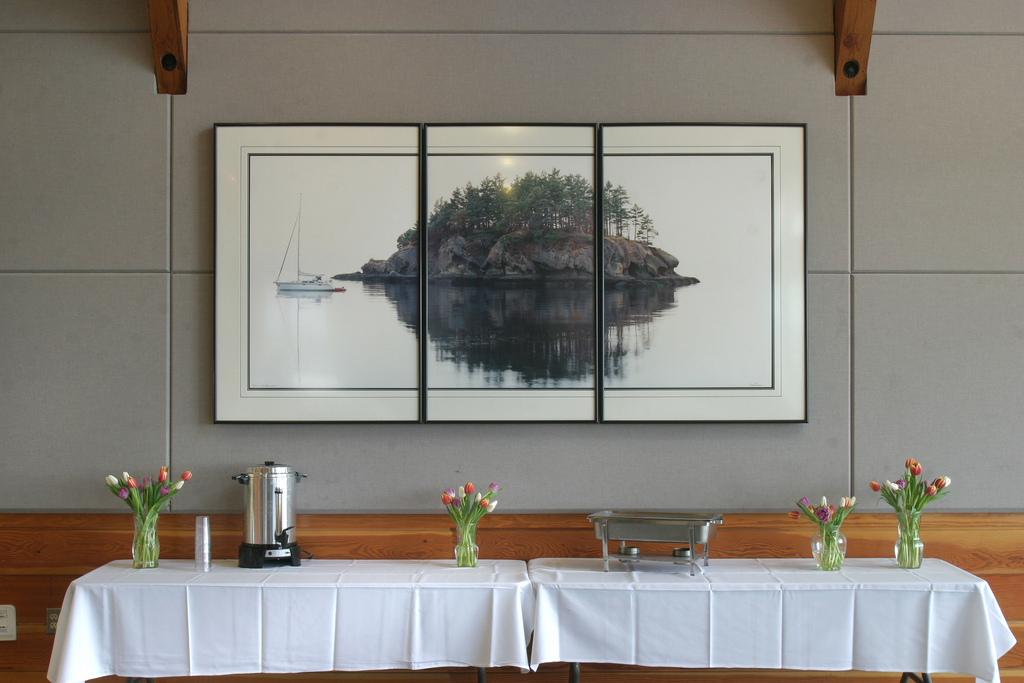 Food and beverage set up area in Squalicum Boathouse